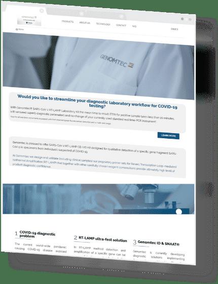 Profesjonalna internetowa strona sprzedażowa dla firmy Genomtec